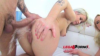 Licky Lex & Gina Sweet blonde sluts DAP'ed (maximum anal stretching & pissing) SZ693
