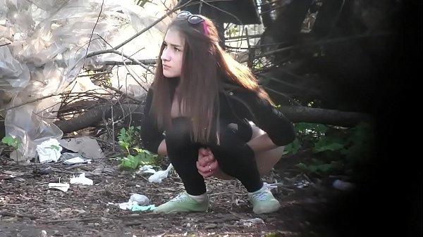 first MILF caught pissing - then hot teen girl