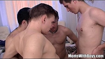 Stepmama Anal DP GangBang Son And Friends