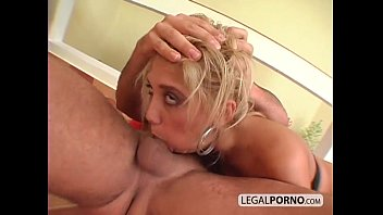 Hot blonde gets rough anal treatment and cum in her mouth MG-3-03