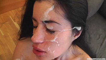 Messy facials are in store for beautiful April Blue