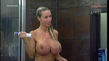 Big Brother anina bath ith the guys