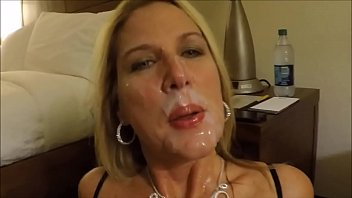 Matur Wife Sucking Big Cock Of Her Husband Nad Getting Cumshot All Over Her Cute Face