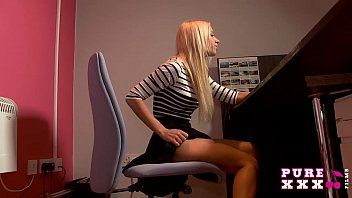 PURE XXX FILMS Banging the stunning busty secretary