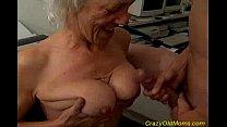 Crazy old mom gets big cock