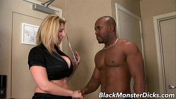 Big Boob Sara Jay Double Stuffed with Black Cock