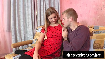 Blonde teen gets nailed and cummed