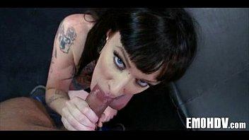 Tattooed goth babe 015