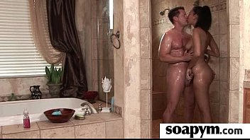 Masseuse shows her AMAZING body in a hot soapy massage 22