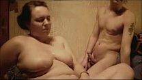 Huge Cumshot on her Big Tits - Homemade