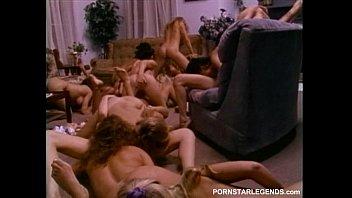 Sorority lesbians in huge sex orgy