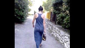 Fine ass in transparent dress