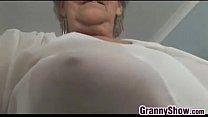 Grandma Teasing Her Pussy With Panties On