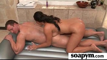 Masseuse shows her AMAZING body in a hot soapy massage 1