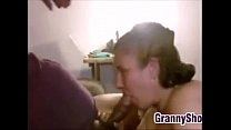 Grandma Giving Her Husband A Blowjob