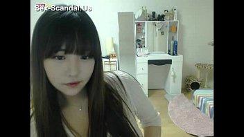 Pretty korean girl recording on camera 5