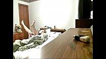 Hidden cam caught my mum on bed masturbating