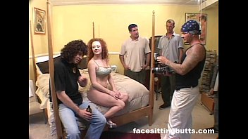 Plugging three holes on a ginger slut simultaneously.