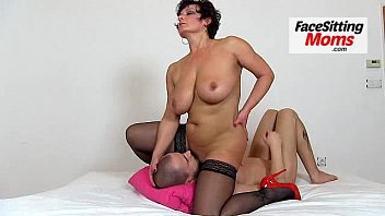 Melon sized tits cougar Eva bbw facesitting and stockings