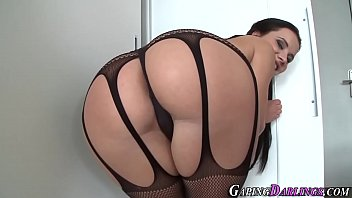 Whore ass rides huge toy