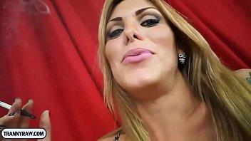 Big tits blonde tranny pissing blowjob and anal fucking