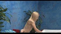 Oiled blondie gets slit rammed