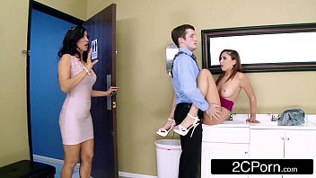 Naughty Stepmom/Teen FFM 3Some At The Office - Isis Love, Ariana Marie 8 min