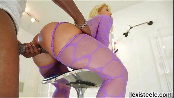Blonde Ryan Conner in her first blowbang with her hunk guys