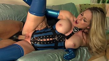 Fucking in shiny latex lingerie and high heels 12 min