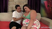 Cute and fat BBW Bella Bendz gets her pussy hammered