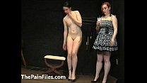 Submissive Lyarah facial candle waxing and lesbian domination of amateur slave