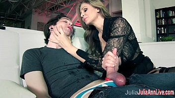 Busty Milf Julia Ann Makes Boy Toy Cum on His Face! 6 min