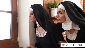 Crazy porn with monster stalking catholic nuns