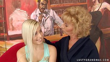 Granny Margarette Having Some Lesbian Sex with a y. girl