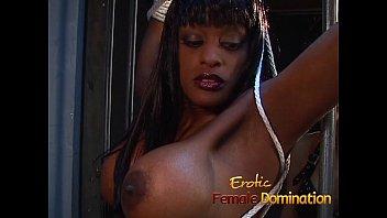 Jailed ebony girl punished by mistress Natasha after being caught masturbating-6