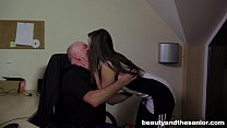 Teen Carla gets fucked and facialied in the office