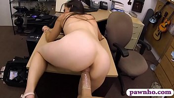 Brunette babe fucked by pawnshop owner in the office 6 min