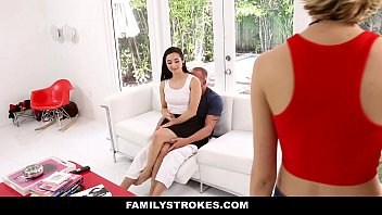 FamilyStrokes - Fathers Day Gift From Cute Horny StepDaughter (Malina Mars)