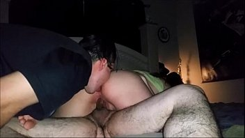 guy licks girlfriend ass while she fucks friend