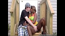 Nilou & Travis Horny Outdoor Makeout