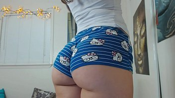 Tattooed, Hipster Chick In Booty Shorts