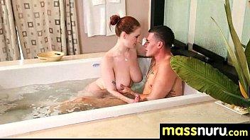 NuruMassage Teen Slides Oily Pussy on Cock 2