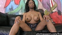 Kennedy Monroe is a black stripper that loves deepthroating white cocks to the b