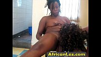 Black lesbians Chinue and Faraa are ready to fuck.