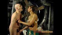 Gorgeous babe enjoys pleasuring this horny stud's stiff meat pole 12 min