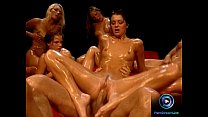 Hot chicks soaked in oil waiting for Rocco Siffredi to fuck them 21 min