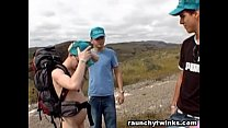 Nudist Hiker Gets Blown By A Lost Dude In The Wild