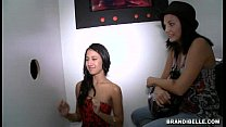 Brandi Belle and Amia Miley go to a Glory Hole 5 min