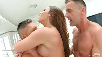 Asstraffic Mature beauty with a perfect body gets manhandled at the same time by