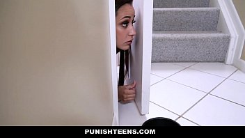 PunishTeens - Teen (Evie Olson) Brutally Fucked For Disobeying Her Master